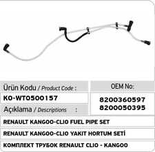 Renault Clio - Kangoo Fuel Pipe Set 8200360597 - 8200050395