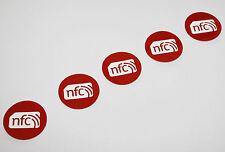 5 Calidad Rojo Pet NXP NTAG 213 30mm Etiqueta NFC Pegatina Samsung Nokia Sony LG HTC