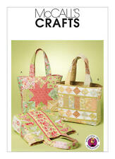 McCalls 6094 OOP Paper Sewing Pattern Whistlepig Creek Quilted Bag Tote