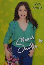 KAROL SEVILLA - Autogrammkarte - Autograph Autogramm Soy Luna Clippings Sammlung