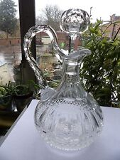 St. Louis Decantador de Vino Pequeño de Cristal en el patrón de Tommy Vintage 9.9 Pulgadas Raro