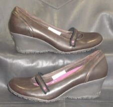 Merrell Petunia Espresso brown leather mary jane pumps Women's shoes size US 9
