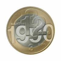 SLOWENIEN / SLOVENIA 3 EUR 2020 30. JAHRE VOLKABSTIMMUNG NUR 40.000 LAGER UNC
