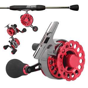 Metal High Foot Raft Wheel+Unloading Force Middle Through Rock Fishing Reel Set