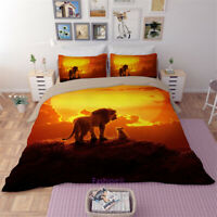 The Lion King Doona Duvet Quilt Cover Set Single/Double/Queen/King Bed Linen