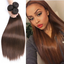 4# 1/3BUNDLES Virgin Hair Weft Straight Fashion Human Hair Extensions Weaves