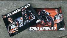 NHRA Andrew Hines Eddie Krawiec Harley Davidson Screamin Eagle Motorcycle Poster