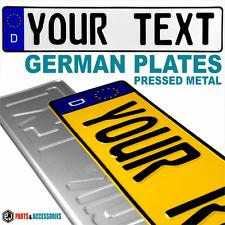 Stile tedesco targhe premuto x2 Targa in metallo in rilievo EURO MOSTRA D GB COPPIA