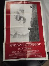 Vintage Movie Poster 1 sh Five days One Summer Sean Connery Betsy Brantley 1982