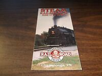 1990 TENNESSEE VALLEY RAILROAD TIMETABLE AND BROCHURE