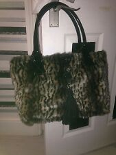 £490 Love Moschino animal print faux fur leopard tote handbag  Bag LARGE dustbag
