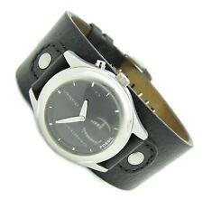 Fossil BIG TIC Matrix Herren Armband Uhr Leder schwarz JR-8621 5ATM Batt neu N90