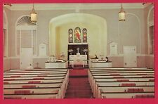 0518A PALMYRA NJ VTG CHROME PC BETHANY EVANGELICAL LUTHERAN CHURCH INTERIOR VIEW