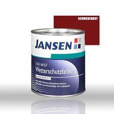 Jansen ISO WSF Wetterschutzfarbe schwedenrot 0,75l Holzfarbe Schwedenrotfarbe