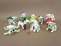 Vintage! 1996 Lot Of 9 Disney's 101 Dalmatians Figurine Christmas Holiday Toys