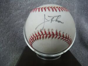EARLY HOF JIM THOME AUTOGRAPHED BASEBALL -  CLEVELAND INDIANS