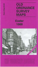 OLD ORDNANCE SURVEY MAP EXETER BONHAY ROAD FRIARS GREEN 1888 COLOURED EDITION