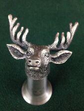 Jagermeister Deer Buck Stag Elk Head Horns Pewter Cup Shooter Shot Glass