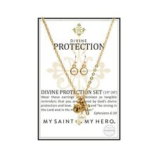 Divine Protection Necklace and Earring Set (Gold)