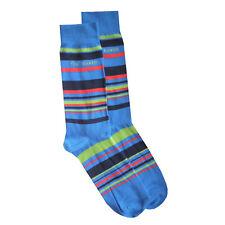 TED BAKER Mens Blue Multi Stripe Organic Cotton Socks One Size UK 7-11 EU 41-46