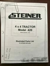 Steiner 420 4 X 4 Tractor Illustrated Parts List Manual