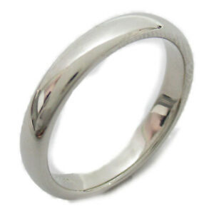 TIFFANY&CO Classic band ring bague #8 Pt950 Platinum Silver Used
