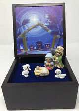 Precious Moments Musical Led Heirloom Nativity Set Share The Gift Of Love *READ*