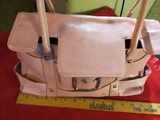 Vintage FRANCO SARTO Pink Leather SATCHEL BAG Purse Handbag