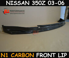 NISSAN 350Z Z33 2003-2006 N1 TYPE CARBON FIBER FRONT BUMPER LIP SPLITTER | UK