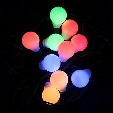 Plaights LED Partylichterkette Farbwechsel Lichterkette IP44 für Außen und Innen