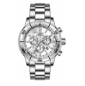 Invicta Men's 10358 Specialty Chronograph Silver Dial Watch