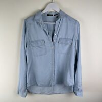 Massimo Dutti Light Denim Womens Shirt (EU40) UK12
