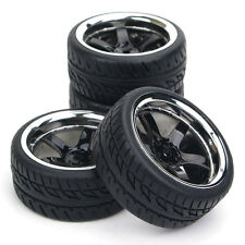 4X62mm Rubber Tire Rims 12mm Hex For RC 1:10 Flat Racing On Road Car PP0104/150