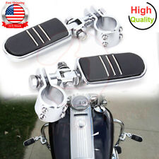 "1-1/4"" Highway Foot Pegs Pedals Crash Bar For Harley Touring Motorcycle Chrome"