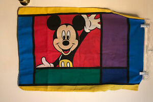 Disney Mickey Mouse Goofy 90's VTG Color Block Double Sided Standard Pillowcase