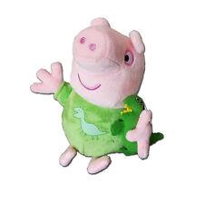 NUOVO Peppa parlando della buonanotte 17cm Pig George con Dinosaur Morbido Peluche Giocattolo