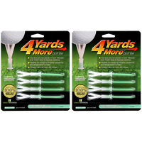 """2 PACKS of 4 Yards More Golf Tees 4""""  -  8 Extreme Green Plastic Tees"""