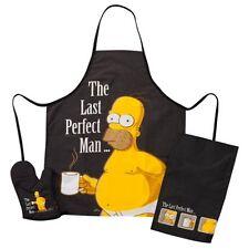 Simpsons Grill Set Homer Simpson Grillschürze Grilltextilien Handtuch Handschuh