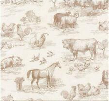 Robert Kaufman Down Farm Natural Beige Farm Toile AGBD1864514 fabric