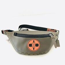 Coach x MBJ Naruto Warren Belt Bag Fanny Pack Signature Green Leather NWT $350