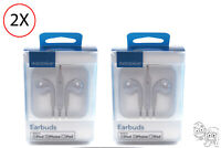 Lot of 2 - Insignia Wired Earbud Headphones (Off-white) OB 🎧