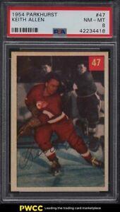 1954 Parkhurst Keith Allen #47 PSA 8 NM-MT