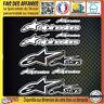 lot 10 Stickers autocollant Alpinestars adhésif tuning planche sponsor