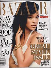 HARPER'S BAZAAR MAGAZINE AUGUST 2012, RIHANNA UNCENSORED & GREAT STYLE ISSUE
