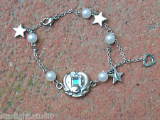 Sailor Moon PGSM Silver Bracelet Locket 1980-2001 Prop Jewelry Crystal CosPlay