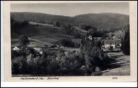 1952 Stempel und Postkarte Hellendorf Sachsen DDR Partie am Bienhof Teilansicht