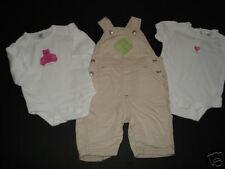 Baby Gap Argyle Overalls Bear Heart Tops 0-3 EUC