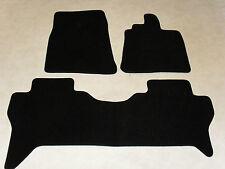 Mitsubishi Shogun LWB 2007-on Tailored Car mats Black/Blk trim.