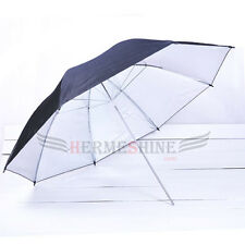 "43"" 110cm Black Silver Reflector Studio Light umbrella"