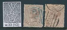 VICTORIA, 1882 2d grey-brown+chocolate wmk V2 very fine, SG210,210a, cat £7